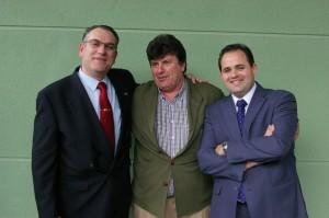 Paco Nuñez con Jose Miguel Molla y Antonio Serrano